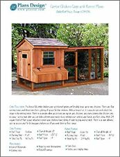 Backyard Chicken Coop Plans with Kennel / Run, Salbox / Lean-to 4 ft x 10 ft Two