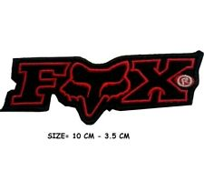 FOX Biker sports rally logo Embroidered Iron/Sew on Patch Badge RED