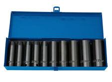 """Draper 10 Piezas De 1/2 """"cuadrados profundo métrica impacto Socket Set 10mm-27mm 38369"""