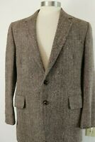 Vintage Harris Tweed Herringbone Wool Mens 42R Blazer Sport Coat Suit Jacket