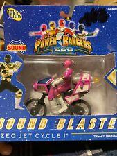 "Rare Electronic 4"" Mini Power Rangers ZEO JET CYCLE black Ranger Jakks !!!1996"