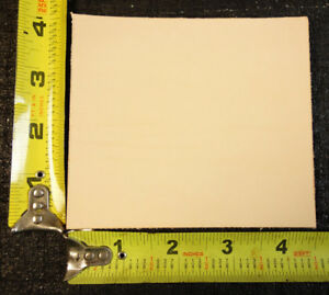 """4.5"""" x 4"""" Vegetable Tanned Cowhide 2 to 3 oz. Tooling Leather Piece, 1st. Qlty"""