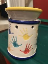 Sunshine Kids Handprints Scentsy Candle Wax Warmer Full Size Retired