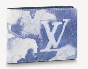 Louis Vuitton Multiple Wallet Watercolor Blue Monogram LV Authentic Brand New