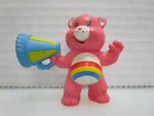 Care Bears Cheer Bear Cheering from the Sidelines Pvc Figure 1984 Agc Miniature