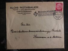 1938 Ogfolderhaid Sudetenland Germany Provisional Cancel Cover