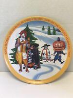 Vintage 1977 Mcdonalds Dinner Plate Hamburgler Ronald Mayor McCheese Snowman