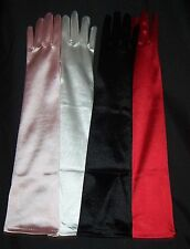 Satin Gloves in four different colors Pink,White,Black,Red and Ivory