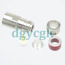 2pcs connector RP*N female plug clamp RG8 LMR400 RG213 RG165 cable straight F