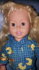 "Vintage Playmates Amazing Ally Doll blonde With Pjs outfit 18"" Tall 1999"