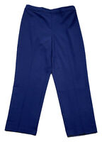 SUSAN GRAVER Chelsea size 8 sapphire stretch knit side zip cropped pants