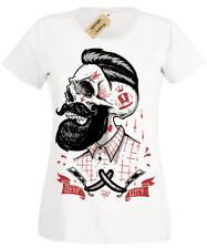 Deep Cuts T-Shirt ladies rockabilly barber shop hipster beard shave womens