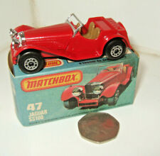 Vintage Matchbox 75 Superfast Series, No47 Jaguar SS100 Diecast Model & Good Box