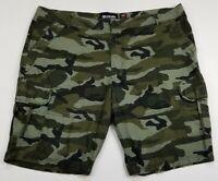 Ecko Unltd. Men's Flat Front Cargo Shorts 42 Camouflage Camo Pockets Cotton