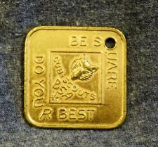 Old Store Stock Boy Scouts BSA Be Square Medal Medallion