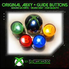 50x Genuine Xbox 360 Controller Original Replacement ABXY + Chrome Guide Button