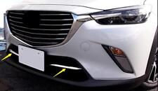 For Mazda CX-3 CX3 2015-2018 ABS Chrome Front Grille Bottom Decorative Trim 2pcs