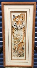 """Framed LE Print By D Swartzendruber - """"Into Africa"""" Tiger - Signed & Numbered"""