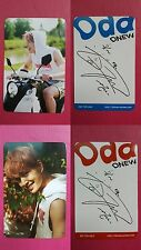 LOT of 2 SHINee ONEW ODD Official Photocard BLUE RED Ver. 4th Album O NEW 온유