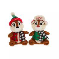 "Disney Parks 2019 Holiday Christmas Chip 'n Dale Medium Plush 8"" (So Cute)  NEW"