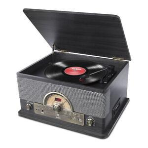 Ion Superior LP Hi-Fi Music System Record Cassette CD Radio w/ Bluetooth BLACK
