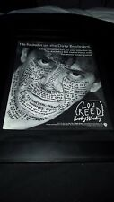 Lou Reed Hooky Wooky Rare Original Radio Promo Poster Ad Framed!