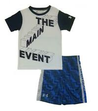 Under Armour Boys S/S The Main Event Dry Fit Top 2pc Short Set Size 5