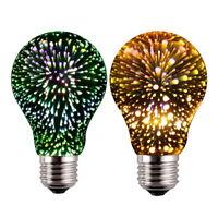 3D Feu d'artifice E27 LED Edison Licht Bulb rétro ampoule verre fée lampe décor