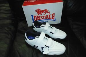 LONSDALE. FULHAM TRAINER, NAVY AND WHITE, SIZE 8, NEW WITH BOX.