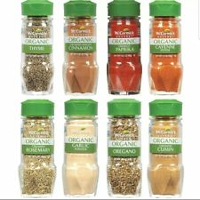 NEW McCormick Gourmet Organic Spice Rack Refill Variety Pack 8 count