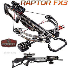 2017 Barnett Raptor FX3 Compound Crossbow Package 4x32 Scope Quiver Arrows 78132