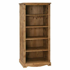 Premium Quality Corona Waxed Solid Mexican Pine Large Open Bookcase Display Unit