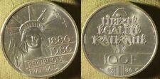 France : 1986 100 Fr. Piedfort Liberty Beautiful Coin #P972 IR9960