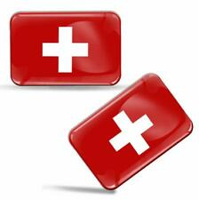 Autocollants 3D Drapeau Suisse Switzerland Swiss National Flag Stickers Decals