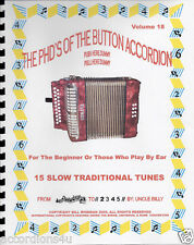 ACCORDION MUSIC,15 SLOW TRADITIONAL TUNES, EASY LEARN/ PLAY BY NUMBERS