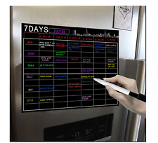 A3 Magnetic Fridge Calendar Planner Whiteboard with 1 marker rubber