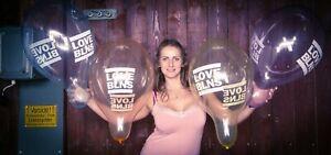 "10 x Belbal 14"" Luftballons LOVE BLNS-LOGO *BALLOONS* *LOONER* *CRYSTAL-SOAP*"