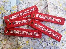 *** REMOVE BEFORE FLIGHT *** LLAVERO KEYCHAIN KEYRING KEY TAG - HIGH QUALITY!!!
