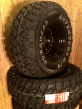 33 12.50 x 15 GT RADIAL MUD TERRAIN WHEELS & TYRES x4 FREE DELIVERY DISCO 2