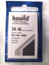 HAWID 24/41MM STAMP MOUNTS 50 PIECES BLACK - COMMS VERT - SUPPLIES