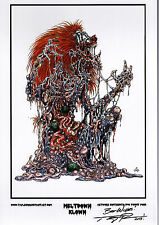 MELTDOWN KLOWN ZOMBIE PRINT HAND SIGNED Artist Tommy Pons