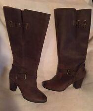 Clarks Heath Skylark Knee Boots dark Brown Size 11