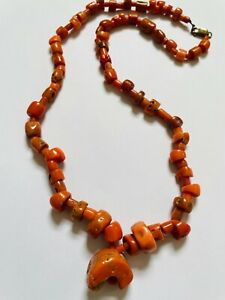 Red Coral Necklace String Natural Lebanese Circa18th Century  VERY RARE