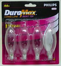 DuraMax 40W Bent Tip Clear Quantity 4 Bulb Pack