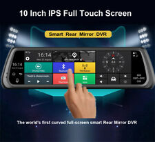 """10"""" Full Touch IPS Special 4G Car DVR Dual Cameras Android Mirror GPS Bluetooth"""