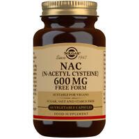 Solgar N-Acetyl-L-Cysteine NAC 600mg 60 Vegicaps