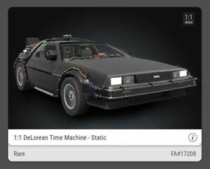 DeLorean Time Machine - RARE - Back to the Future - VEVE NFT - FA#17208 ✅