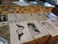 VINTAGE LOT OF 18 1920's UNDER GARMENTS B&W MUNSINGWEAR RED FERN KAYSER AD PRINT