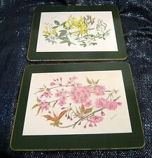12x Lovely plate placements with 6 floral designs approx 8½ x 7½ ins