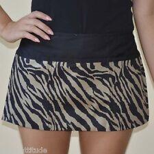 zebra khaki black 3 pocket Server Waitress Bar Bistro Waist Apron hidden zipper